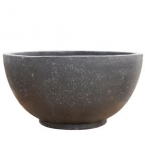 Concrete bowl black